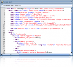 Sourcecode view