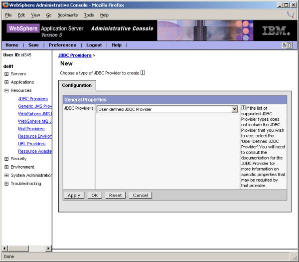 WebSphere 5 Data Sources