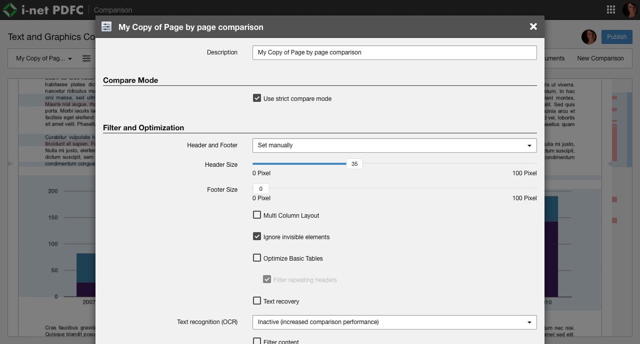 i-net PDFC - Compare the content of PDF files