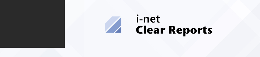 i-net Clear Reports. A reporting solution.